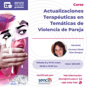 Curso Actualizaciones Terapéuticas en temáticas de violencia de pareja