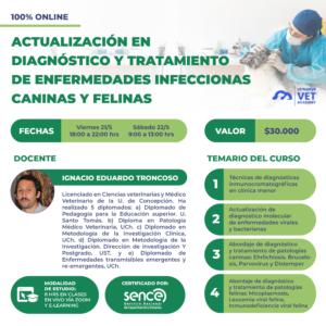 Curso Actualización en diagnostico y tratamiento de enfermedades infecciosas caninas y felinas